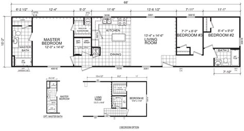 awesome 16 wide mobile home floor plans new home plans