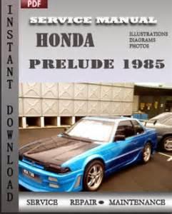 service and repair manuals 1985 honda prelude regenerative braking honda prelude 1985 service manual download repair service manual pdf