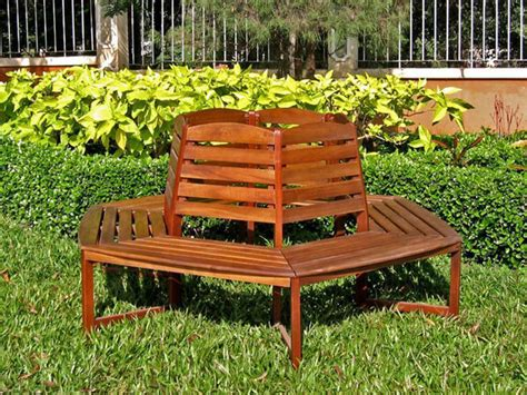 tree trunk benches acacia sectional 6 sided tree trunk bench traditional