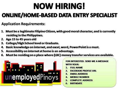 online tutorial jobs home based philippines online work home based via data entry job offered from