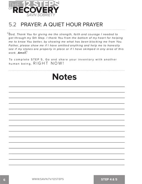 12 Steps Of Recovery Worksheets