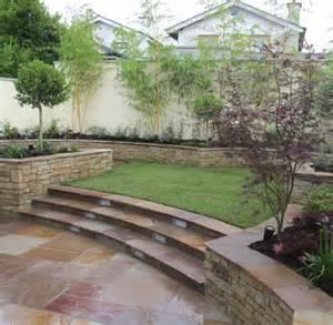split level garden design and landscaping owen chubb