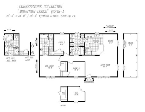 28x48 floor plans cornerstone doubles heritage home center manufactured homes