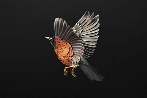 paper bird sculpture paper bird art by diana beltran herrera design father