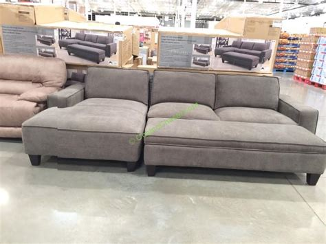 bainbridge fabric sectional with ottoman costco ottoman fulham bonded leather storage ottoman
