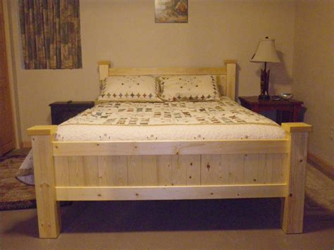 2x4 Bed Frame Plans A Bed Made From Home Center Pine 1x4 And 2x4 By Bondogaposis Lumberjocks Woodworking
