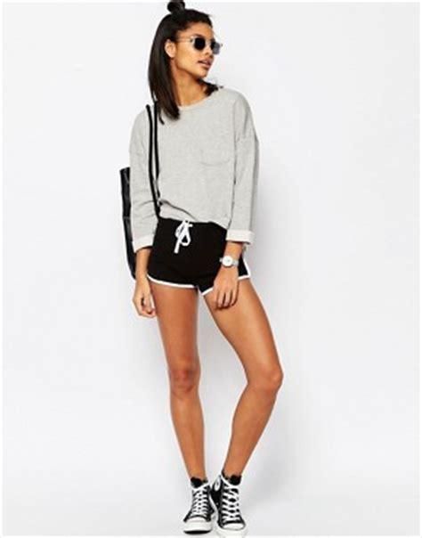 Hotpants American Eagle shorts femme shorts en jersey en cuir et en jean asos