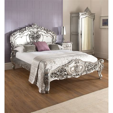 silver beds marvelous la rochelle silver rococo antique french bed