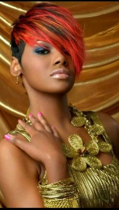 colored shorts colored hairstyles for black