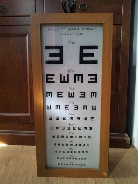 tavola oculistica tabella oculista in legno con vetro anni 60 quot catawiki