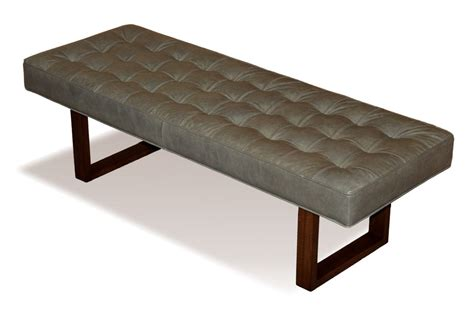 Ottoman Coffee Table Leather Retro Modern Genuine Leather Bench Ottoman Coffee Table
