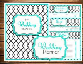 Wedding planner printable turquoise size by breezyorganization