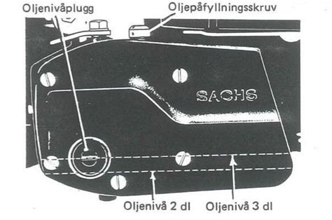 Sachs Motor Oljebyte olja i sachs 505 motor experten