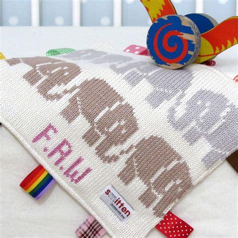 comfort blanket elephant baby comfort blanket by smitten