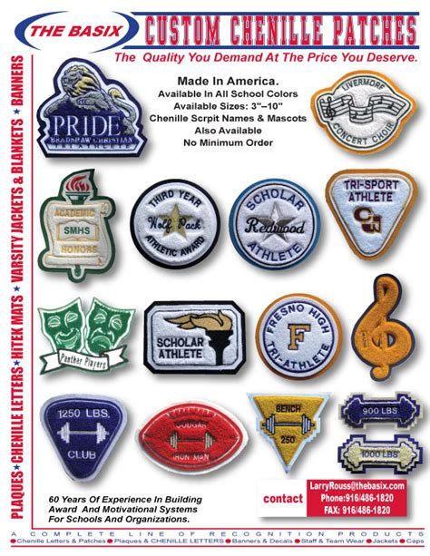 Award Patches Letter Jackets The Basix Chenille Letters Patches Varsity Letters Wall Plaques Sport Patches Letterman
