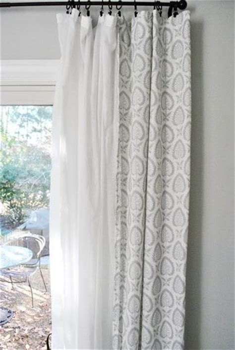 double layer curtain rod 25 best ideas about layered curtains on pinterest
