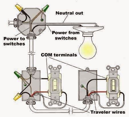 residential wiring diagrams on improperly wiring three way