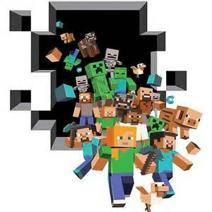 minecraft wall stickers new arrivals boys room decals butterfly home decor livingroom sofa
