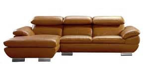 Camel Leather Sofa 575 Sectional Sofa In Camel Leather By Vig