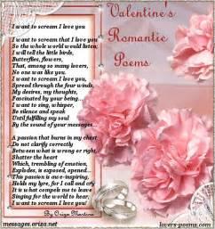 Valentine s love poem gt i want to scream i love you oriza net