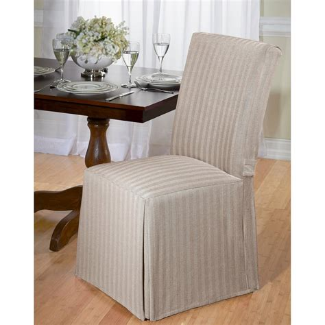 Chair Slipcovers - herringbone dining room chair slipcover ebay