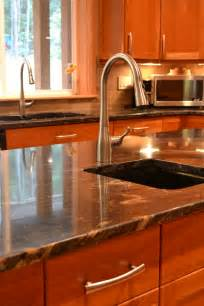 Granite Countertops With Cherry Cabinets Granite Countertops And Custom Cherry Cabinets