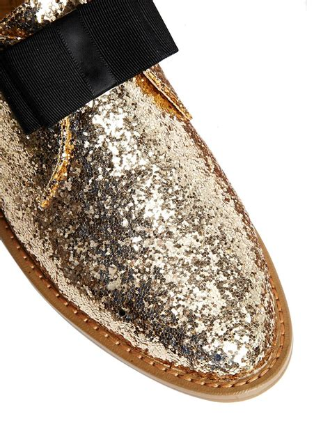 Flat Shoes Glitter Gold gold glitter flat shoes 28 images andrew s amira