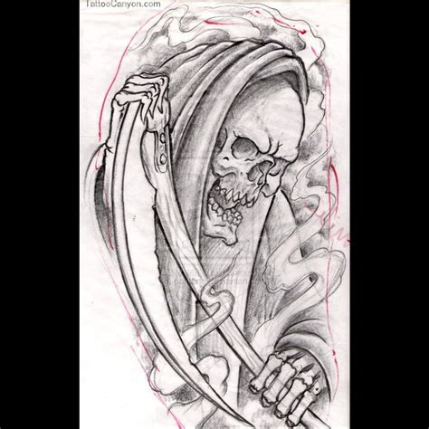 reaper tattoo designs tribal grim reaper sniper www pixshark images