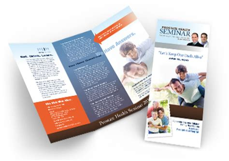 design leaflet seminar trifold brochure design for the prostate health seminar by