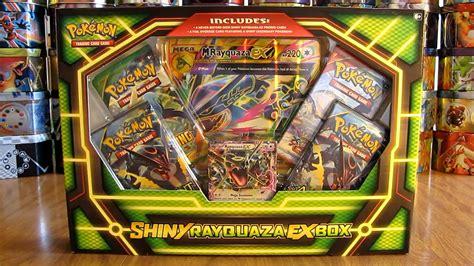 ex m pokemon shiny rayquaza ex box opening youtube