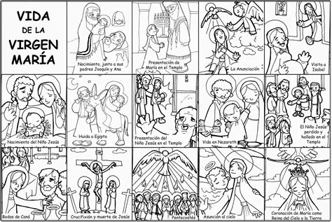 actividades para ninos de la virgen maria dibujos para catequesis vida de la virgen mar 205 a