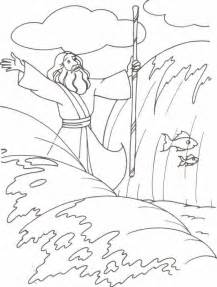 moses parting the sea coloring sheet moses and quail search apprendre l arabe