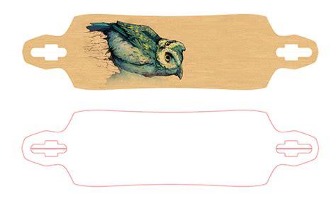 Owl Longboard On Behance Longboard Designs Template