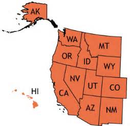 map of the west region of the united states states and facts of the west region abby thinglink