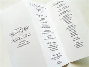 trifold wedding program elegance pearl shimmer trifold wedding programs wedding