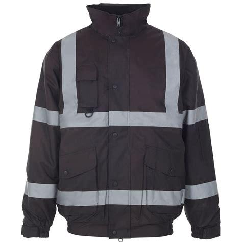 Jaket Bomber Unisex 3 new unisex waterproof bomber jacket hi vis viz workwear