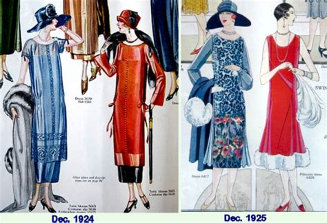 clothing style 1924 rapid change in 1920s fashion women 1924 to 1925