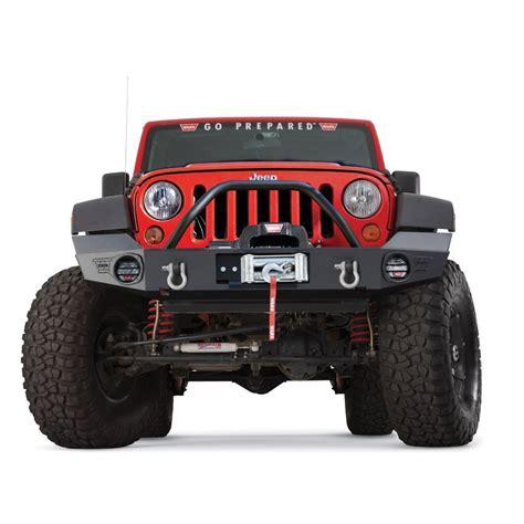 jeep bumper with winch wrangler elite series front bumper warn 87750