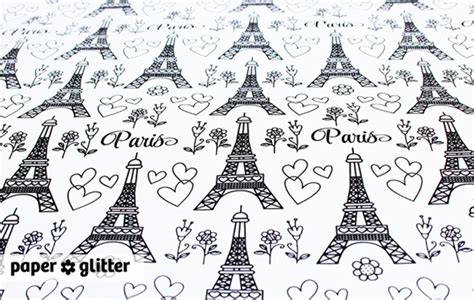 printable french wrapping paper free paris theme coloring pages