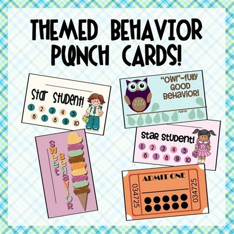 Punch Card Template Student by 25 Best Ideas About Behavior Punch Cards On