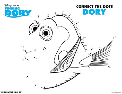 pages printable activities finding dory coloring and activity sheet printables