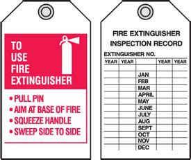 printable fire extinguisher tags fire extinguisher p a s s tags 4 quot w x 7 quot h seton