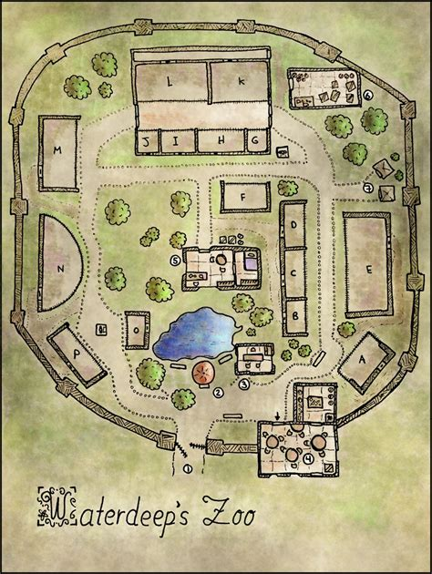 zoo floor plan map 18 waterdeep s zoo elven tower