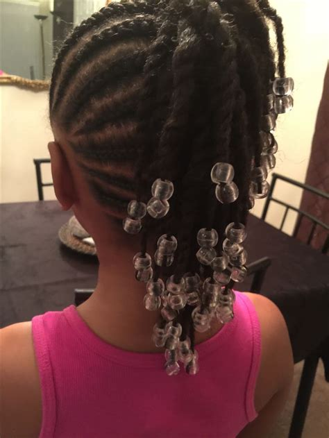 corn rolls and beaded hair styles simple cornrows braids little girl braids black