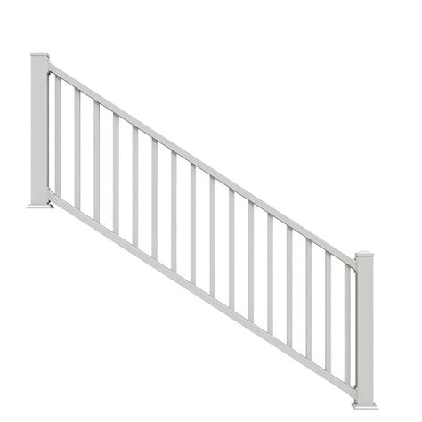 stair railings deck porch railings the home depot vinyl