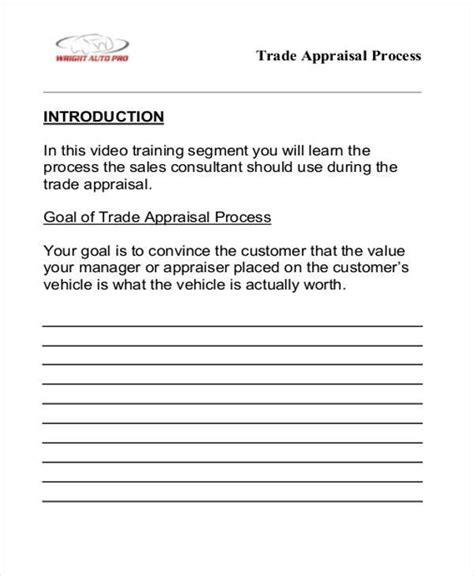 appraisal forms in pdf sle appraisal forms in pdf 27 free documents in pdf