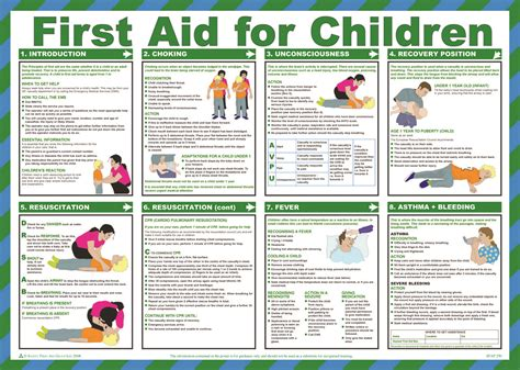 aid for children poster easi med emergency aid supplies ltd aid