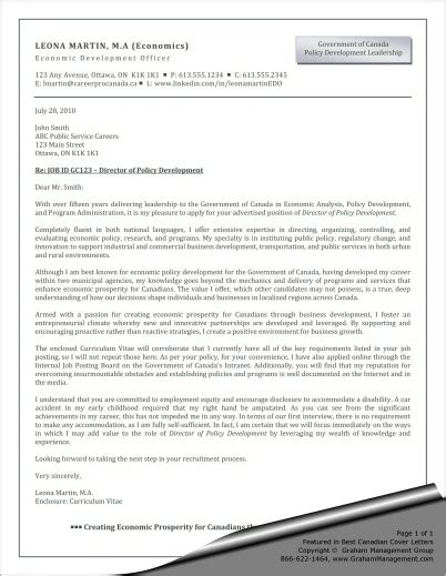 Economic Researcher Cover Letter by Cover Letter Exle For Economic Development Officer Graham