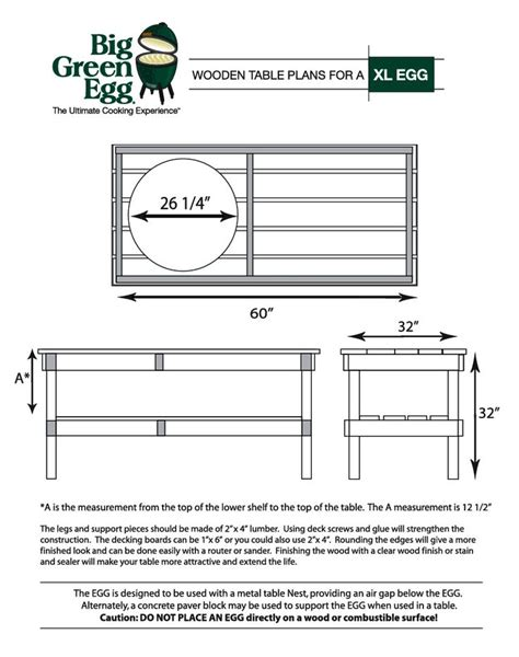Big Green Egg Table Dimensions xl big green egg table dimensions