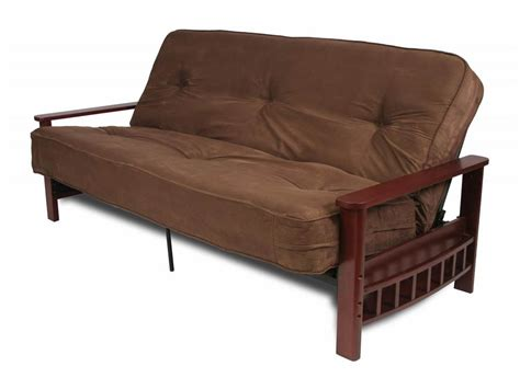 futon wallmart avara faux leather storage futon dark brown walmart com